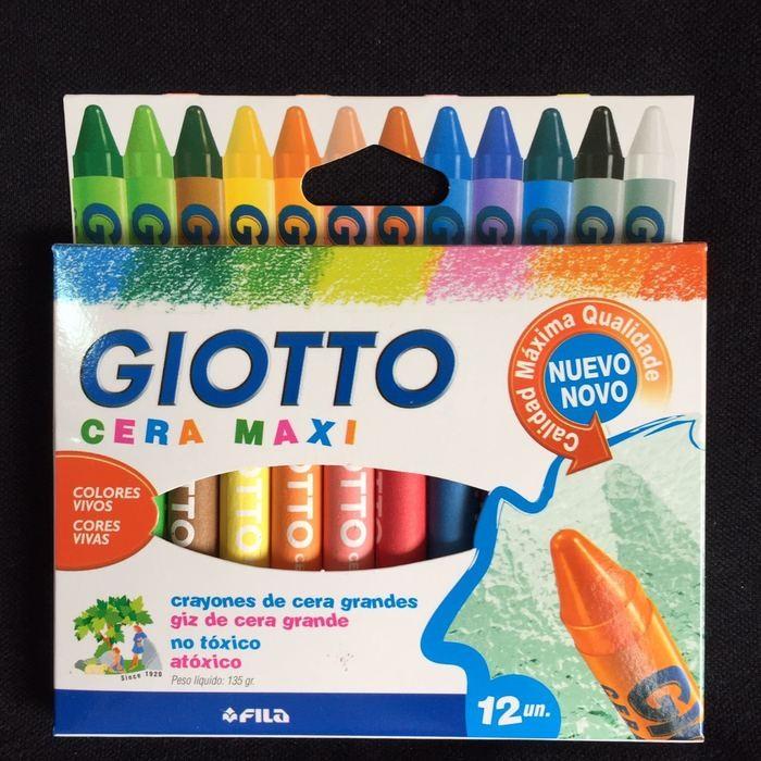 Lapices de Cera Giotto Cera Maxi Caja 12 Colores