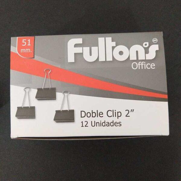 Clip Doble Negro 51 Mm. Metalico Cj C/12 Sets Fultons