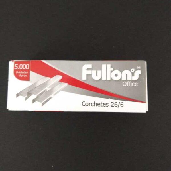 Corchetes Estandar 26/6 5000 Un. Cromado Fultons