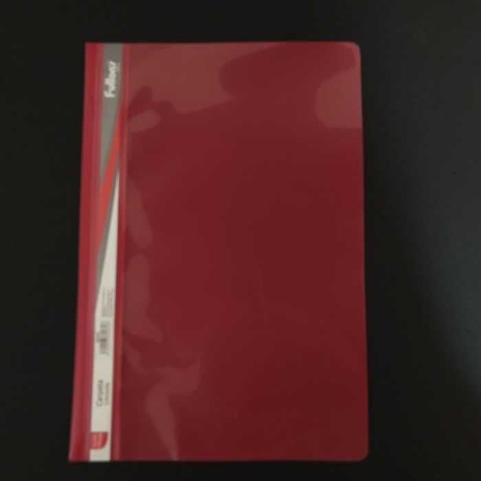 Carpeta Vinil Oficio Rojo con Accoclip Fultons