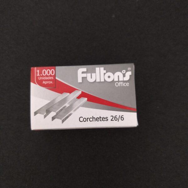Corchetes Estandar 26/6 1000 Un. Cromado Fultons