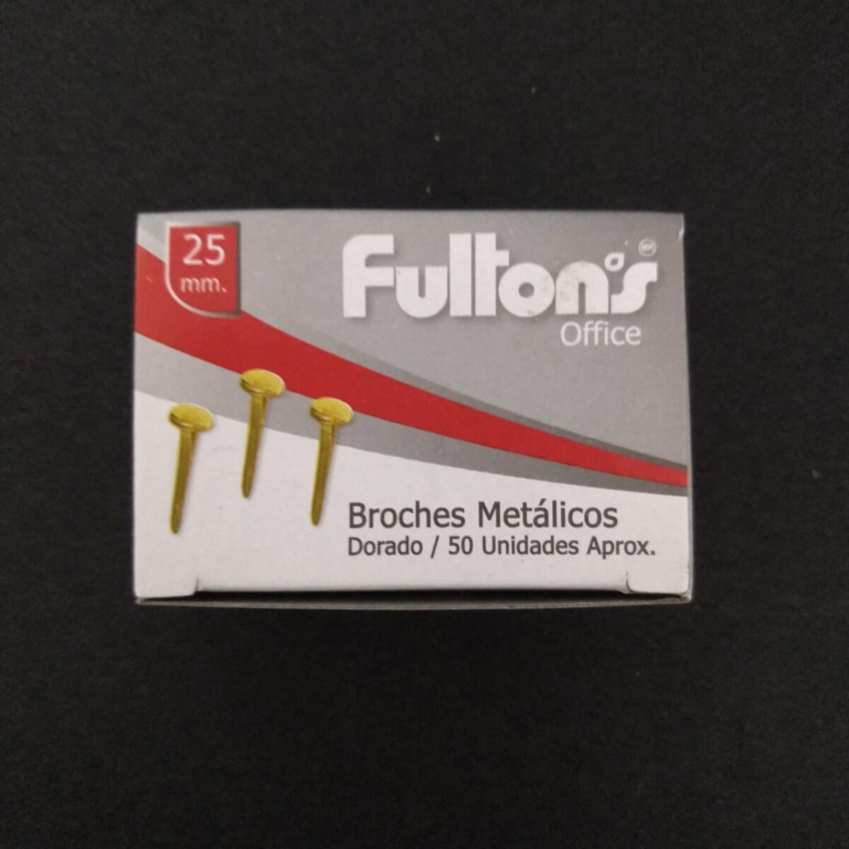 Broche Metalico 25 Mm. Caja De 50 Un. Fultons