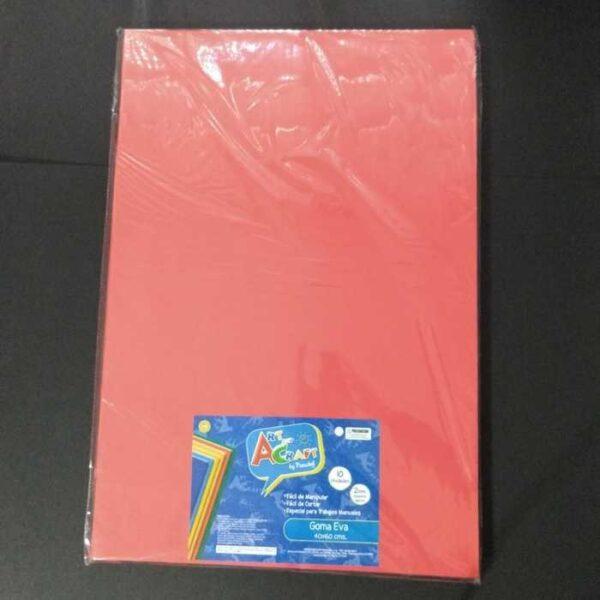 Goma Eva 40x60 Cm 2mm. Rojo Art & Craf