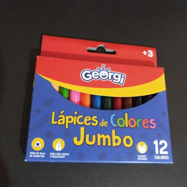 Lapices de Colores Junbo 12 Unidades Georgi