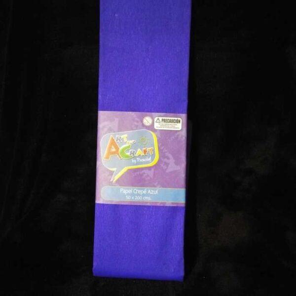 Papel Crepe 50 X 200 Cm Azul