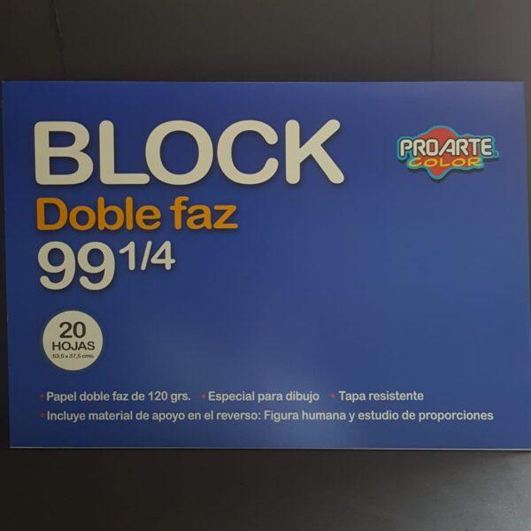 Block Doble Faz Medio 99 1/4 20 hjs 120 gr. 53.5*37.5 cm PROARTE