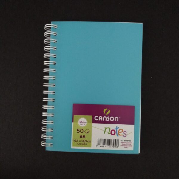 Canson Notes 50 Hojas A6 10,5 x 14,8 cm 120 gr Azul