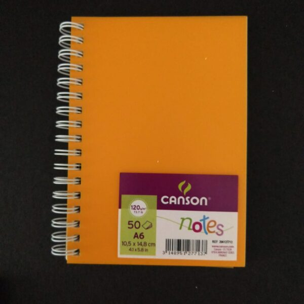 Canson Notes 50 Hojas A6 10,5 x 14,8 cm 120 gr Naranja