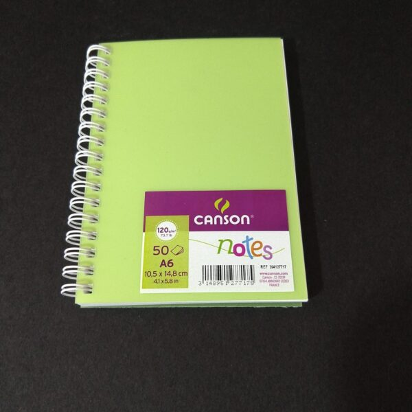Canson Notes 50 Hojas A6 10,5 x 14,8 cm 120 gr Verde