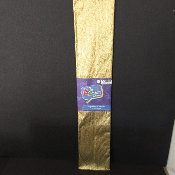 Papel Crepe 50x200 cm Dorado Art & Craft