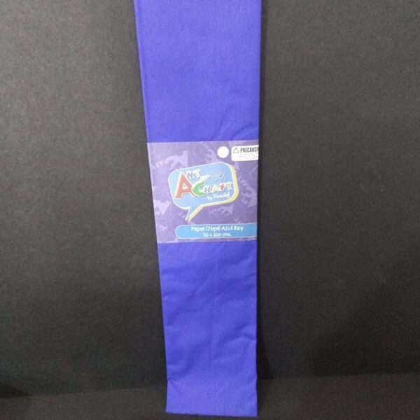 Papel Crepe 50x200 cm Azul Rey Art & Craft