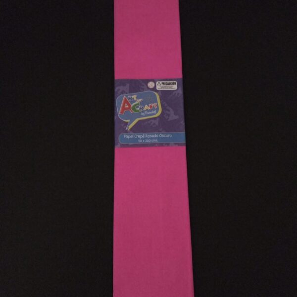 Papel Crepe 50x200 cm Rosado Oscuro Art & Craft