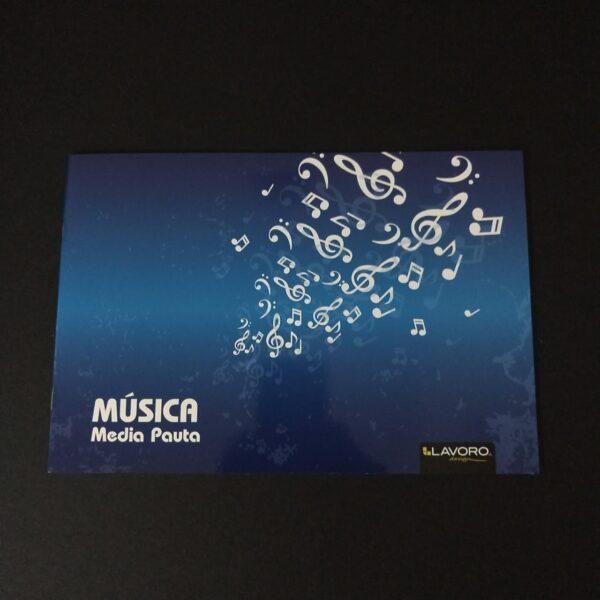 Cuaderno Musica Media Pauta 10 Hjs Lavoro