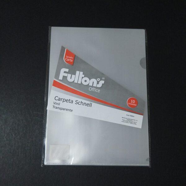 Carpeta Dossier Transparente Carta A4 Fultons