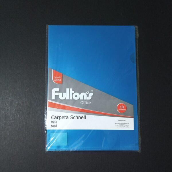 Carpeta Dossier Azul Carta A4 Fultons