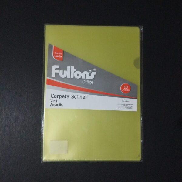 Carpeta Dossier Amarillo Carta A4 Fultons