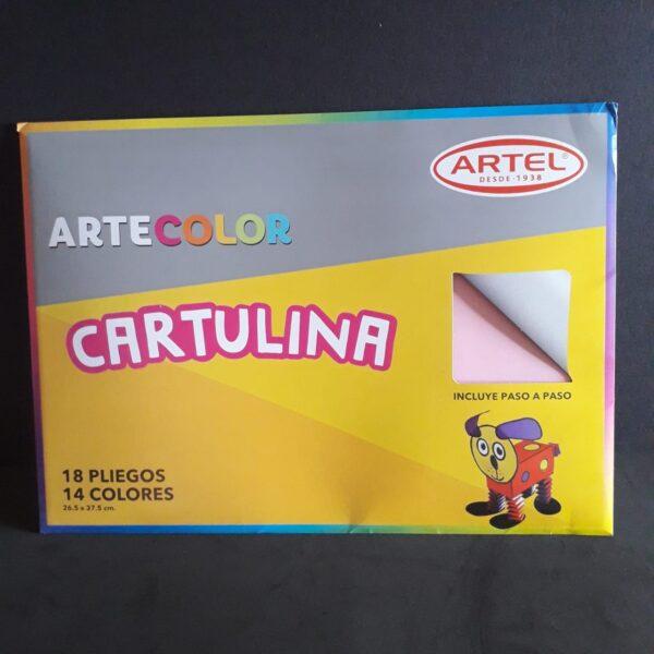 Estuche de Cartulinas Artecolor 18 hjs 14 Colores Artel