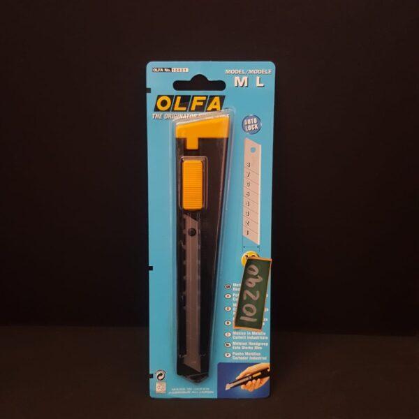 Cartonero Cuchillo Industrial 18mm Metalico con Seguro Automatico Olfa