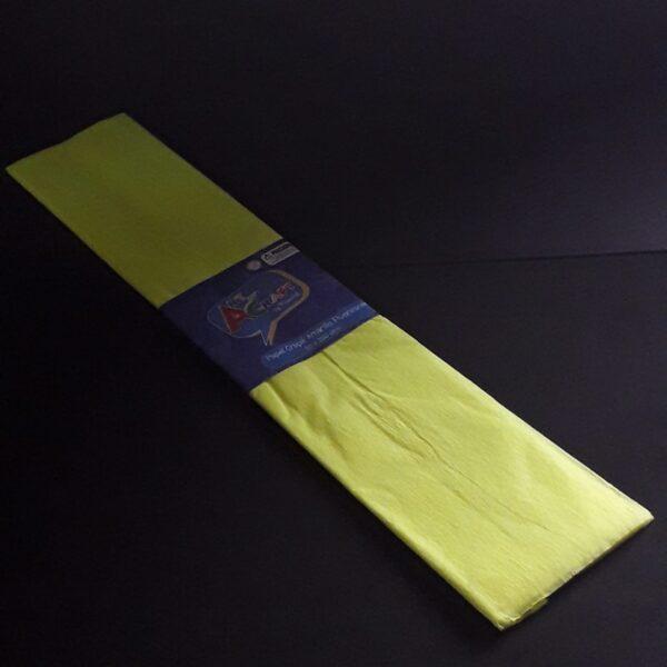 Papel Crepe 50x200 cm Amarillo Fluorescente Art & Craft