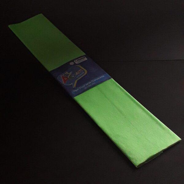 Papel Crepe 50x200 cm Verde Fluorescente Art & Craft