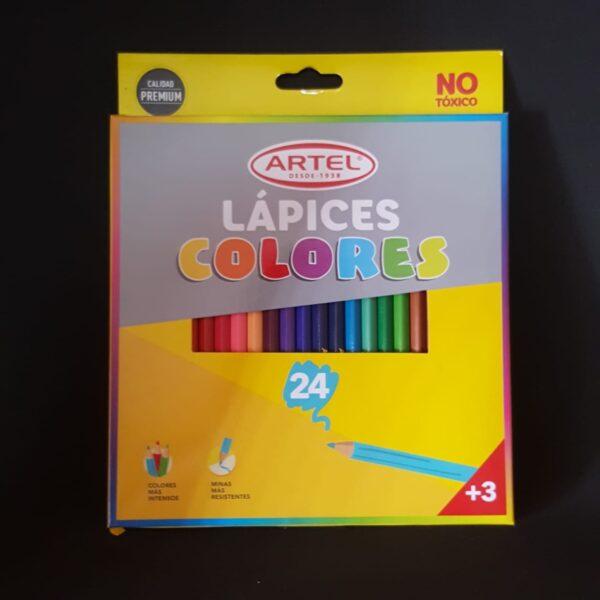 Lapices de Colores 24 unid Artel
