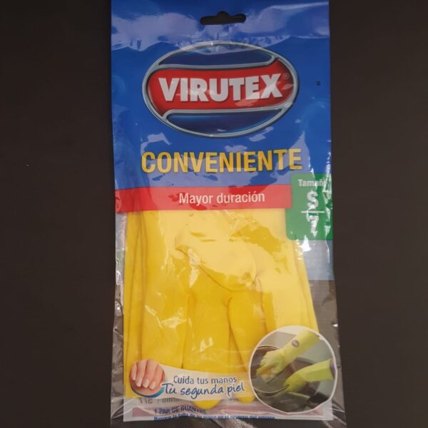 Guantes de Latex Amarillo Virutex
