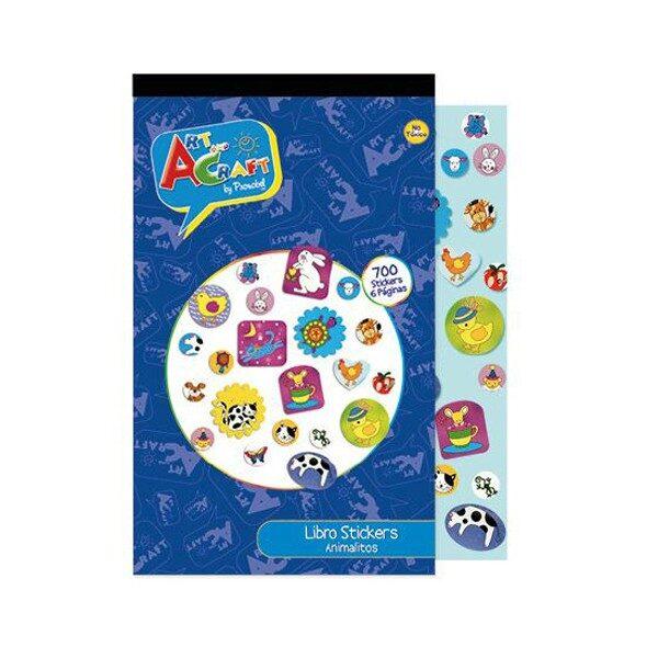 Libro de Sticker Animalitos Art & Craft