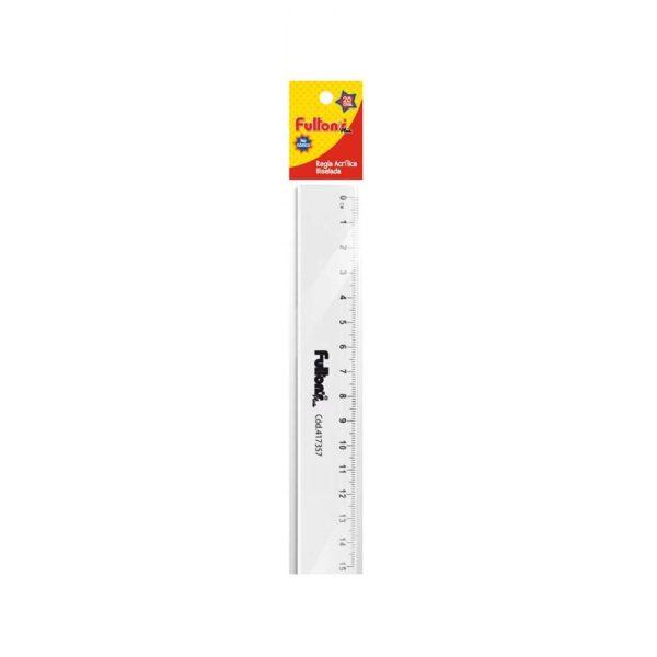 Regla flexible acrílica 15 cm. biselada en bolsa FULTONS