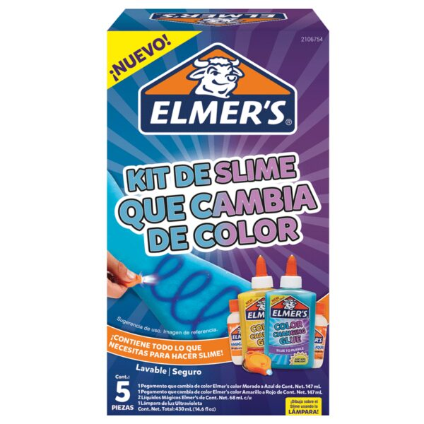 Kit de Slime Cambia Color 4 Piezas Elmers