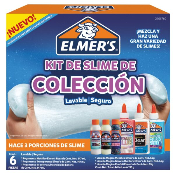 Kit de Slime Coleccion 6 Piezas Elmers