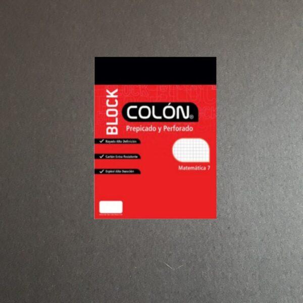 Block de Apuntes Carta Matemática Prepicado y Perforado 7mm 25,8 x 21,5 cm 80 HJ Colon