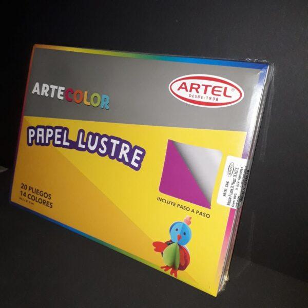 Estuche de Papel Lustre Artecolor 20 Pliegos 26,5 x 37,5 Artel