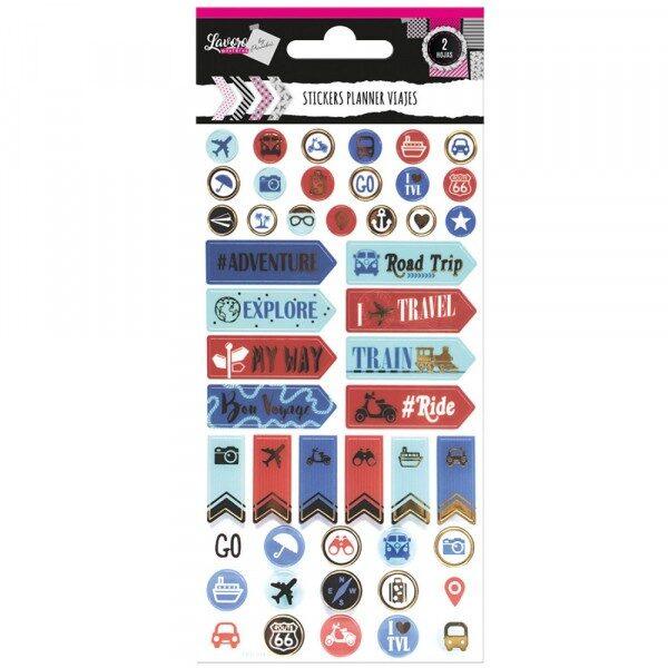 Sticker Planner Viajes Lavoro