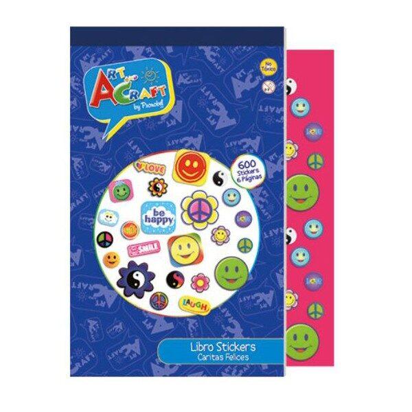 Libro de Sticker Caritas Felices Art & Craft